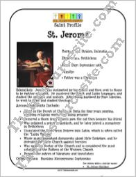 St. Jerome Saint Profile Sheet