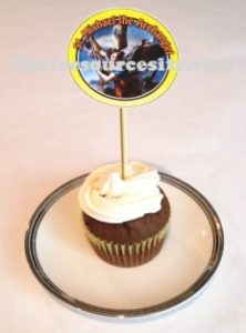 Sample of the St. Michael Cupcake Decoration