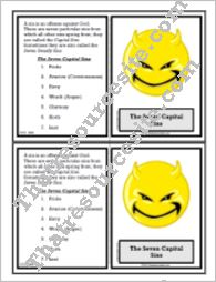 7 Capital Sins Learning Card