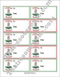 Christmas Candles Gift Tags