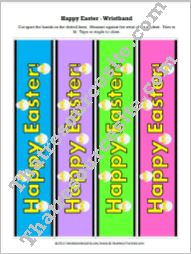 Happy Easter Wristband