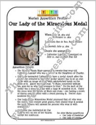 Our Lady of the Miraculous Medal Apparition Profile Sheet