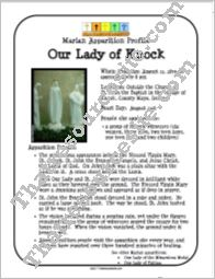 Our Lady of Knock Apparition Profile Sheet