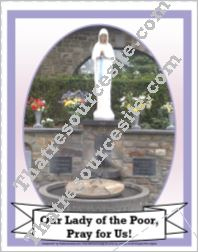 Poster of the Virgin of the Poor
