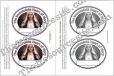 The Immaculate Heart of Mary Paper Medallion