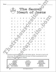 Sacred Heart of Jesus Word Search Puzzle
