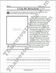 Virtue of Detachment lesson sheet