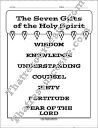 Seven Gifts of the Holy Spirit Student Reference Sheet