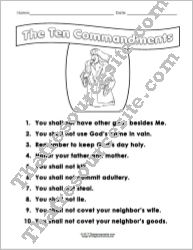 Ten Commandments Student Reference Sheet