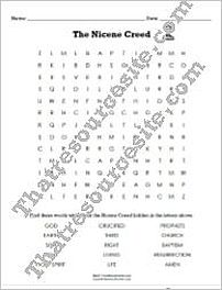 Nicene Creed Word Search Puzzle