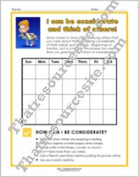 Virtue of Consideration Chart Set