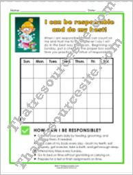 Virtue of Responsibility Chart Set
