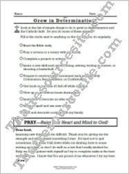 Grow in the Virtue of Determination Prayer Worksheet
