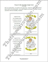 Wallet Size Guardian Angel Prayer Card – Version 1
