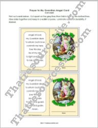 Wallet Size Prayer Card for the Guardian Angel Prayer