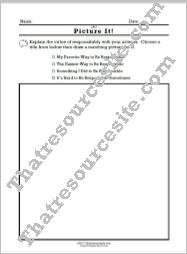 Picture It – The Virtue of Responsibility Worksheet