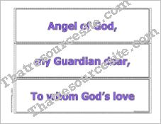 Guardian Angel Prayer Put It in Order Game in Color