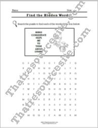 Virtue of Consideration Word Search Worksheet