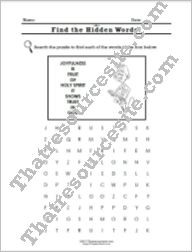 Virtue of Joyfulness Word Search Worksheet
