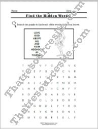 Virtue of Love Word Search Worksheet