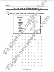 Virtue of Modesty Word Search Worksheet