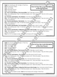 How to Pray the Rosary Reference Sheet (Joyful Mysteries)