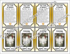 Our Lady of Fatima Printable Trading Card