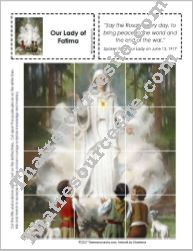 4 Leveled Picture Puzzle featuring Our Lady of Fatima