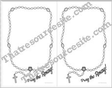 Half-Sheet Pray the Rosary Graphic Organizer