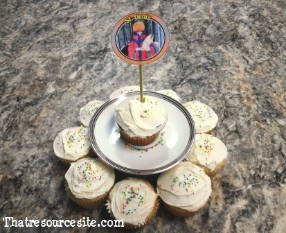 All Saints Day cupcake decoration featuring St. Dennis