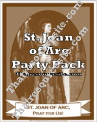 St. Joan of Arc Saint Party Pack