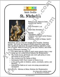 St. Nicholas Saint Profile Sheet