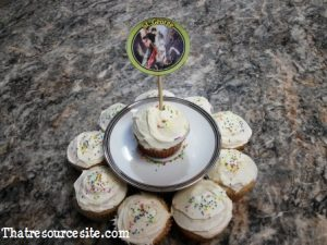 All Saints Day cupcake decoration featuring St. George
