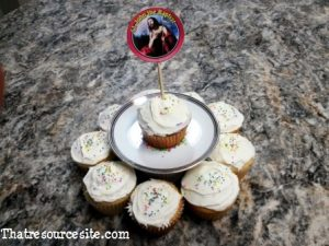 All Saints Day cupcake decoration featuring St. John the Baptist