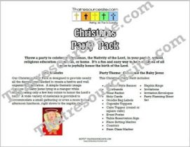 Celebrate the Baby Jesus Christmas Party Pack