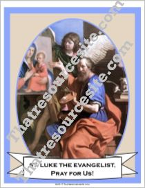 Poster of St. Luke the Evangelist