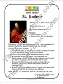St. Andrew Saint Profile Sheet