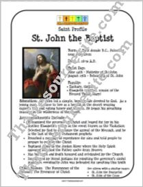 St. John the Baptist Profile Sheet