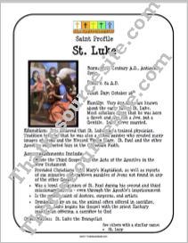 St. Luke Saint Profile Sheet