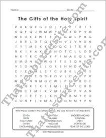 Gifts of the Holy Spirit Word Search
