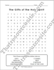 Gifts of the Holy Spirit Word Search EZ
