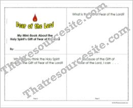 Mini-Book to Focus on the Gift of Fear of the Lord