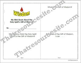 Mini-Book to Focus on the Gift of Wisdom