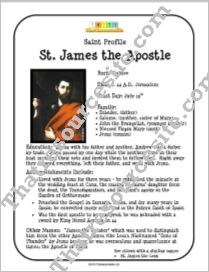 St. James the Apostle Saint Profile Sheet