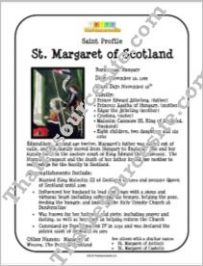 St. Margaret of Scotland Saint Profile Sheet