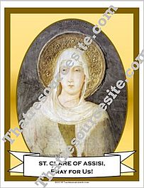 Poster of St. Clare of Assisi