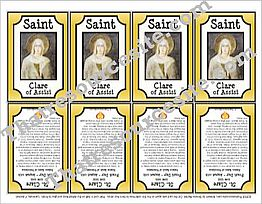 St. Clare of Assisi Saint Trading Card