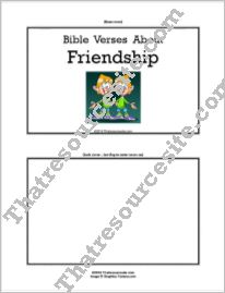 F3 Tab Booklet – Bible Verses About Friendship