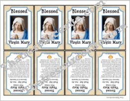 Blessed Virgin Mary Printable Saint Trading Card