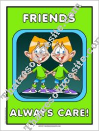 Friends Always Care Poster
